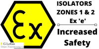 Ex Hazardous Area Zone 1 Zone 2 Isolators ATEX Certified