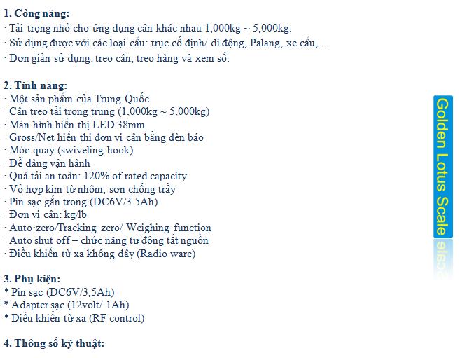 Cân treo OCS-C Crane scale1