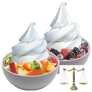 Ứng dụng cân tính giá điện tử trong kem Yogurt